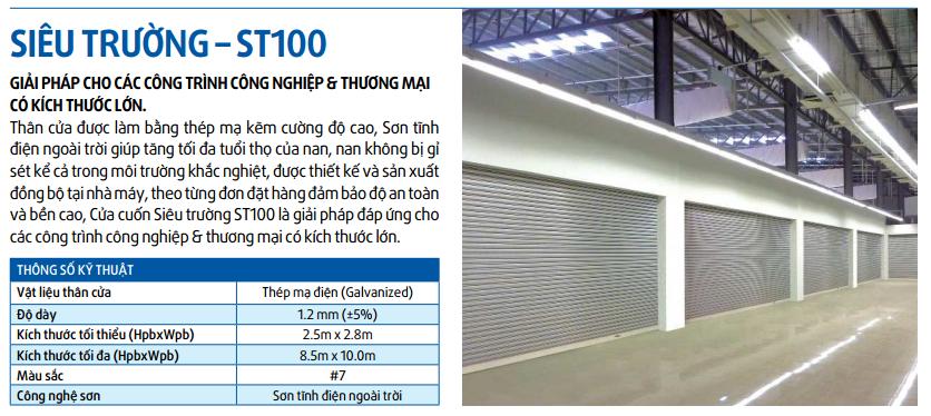 Cửa cuốn siêu trường ST100