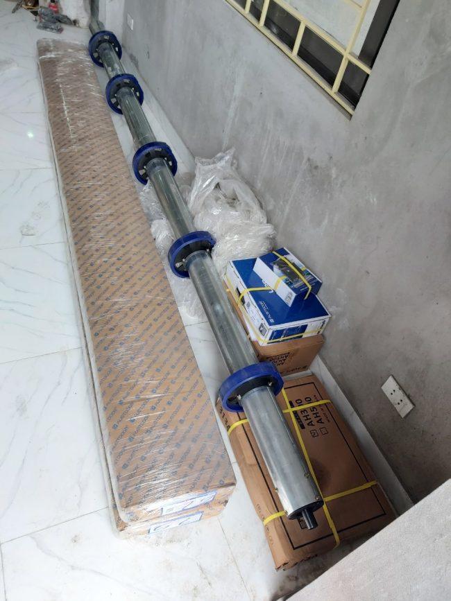 Trục cửa bộ tời bộ lưu điện Austdoor đồng bộ